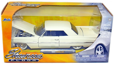 Cadillac Diecast Jada Showroom Floor 1963 Cadillac Hard Top White