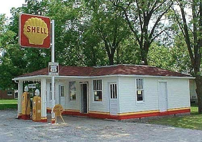 Old Gas Stations Shell Oil