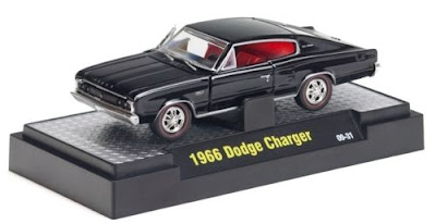 Marks Diecast M2 Machines Detroit Muscle Release 8 31600 08 31 1966 Dodge Charger Black