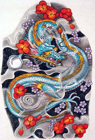 Just finished this design for a Japanese style dragon sleeve tattoo - the