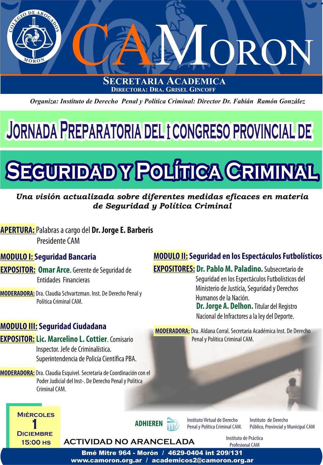 Instituto virtual derecho penal y pol tica criminal 1 11 for Pagina de ministerio de seguridad