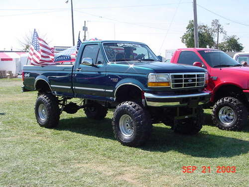 jacked up trucks. into their quot;manlyquot; truck.