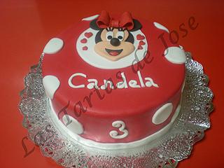 Tarta decorada Minnie. Las tartas de Jose. Castellón.
