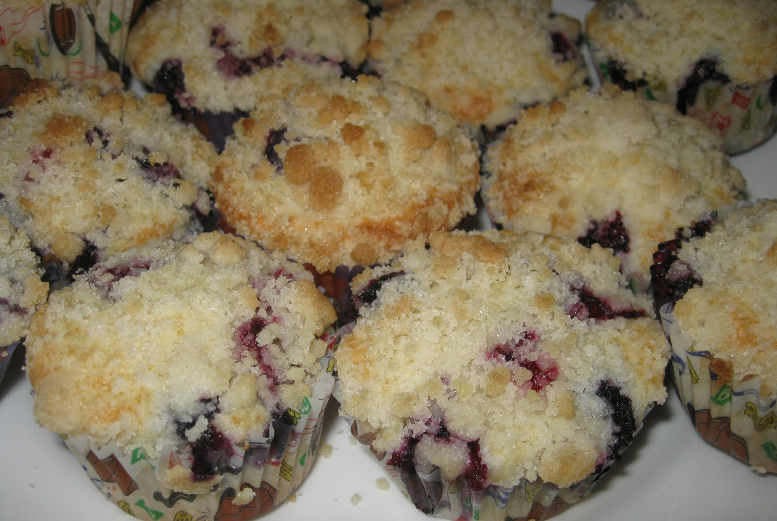 Nana's Recipe Box: Bakery Style Blueberry Muffins