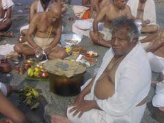 Subhas Acharya performing Puja