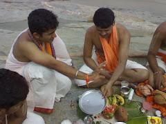 Performing Puja