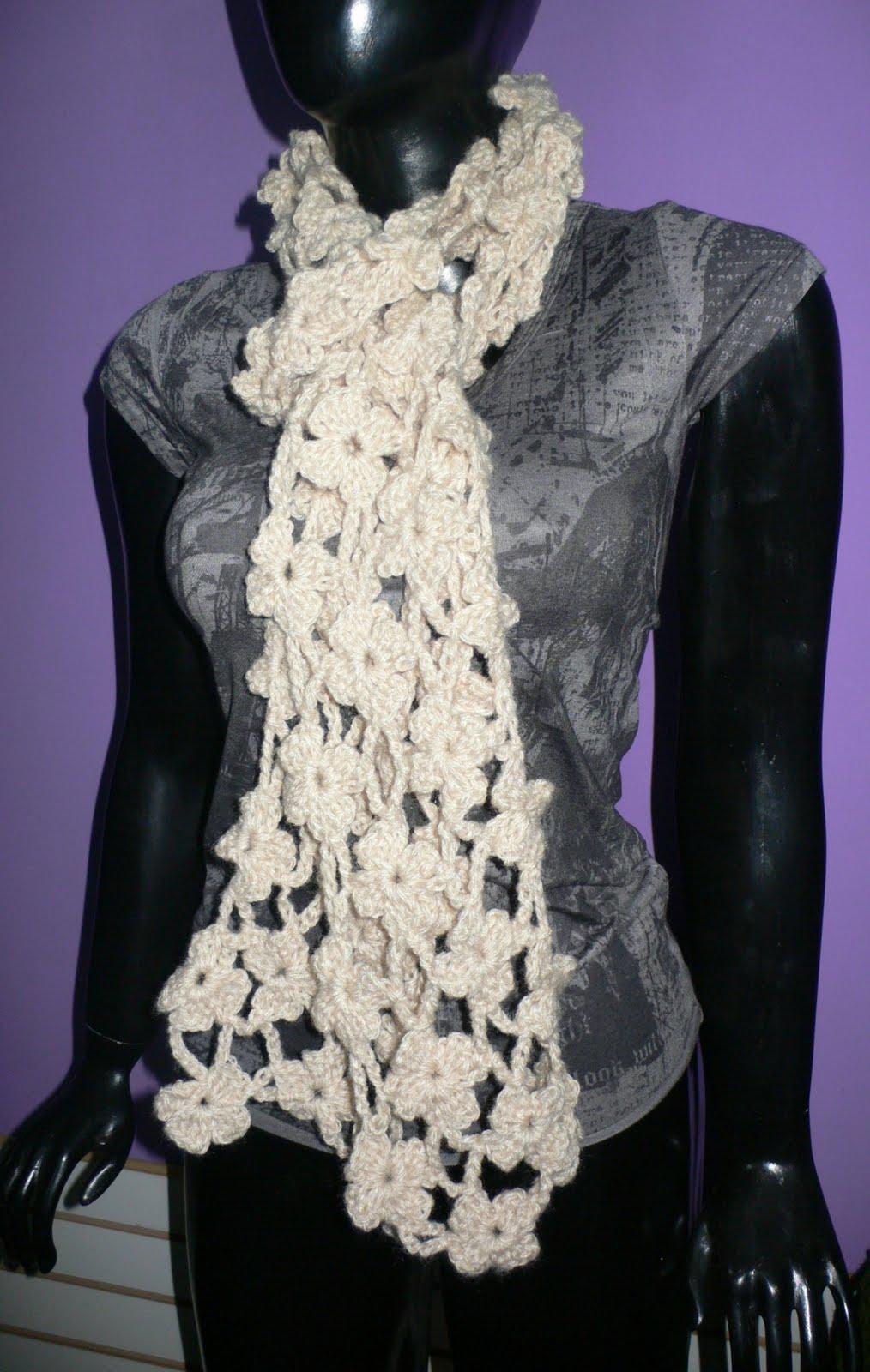 estas chalinas estan hechas a crochet sacadas de revistas de moda de