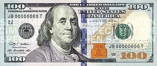Légend image for printable $100 bill