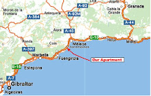 MARBELLA MAP - MAPA DE MARBELLA - COSTA DEL SOL