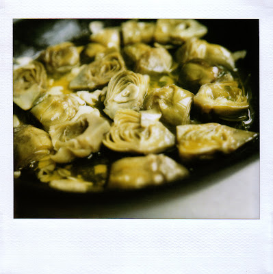 remembered was baby artichokes braised with garlic and thyme