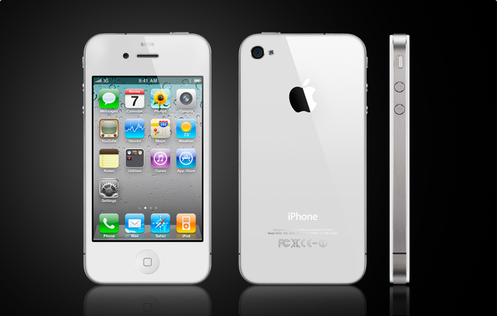 apple iphone 4g white.