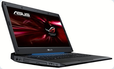 Asus G73SW gaming laptop images