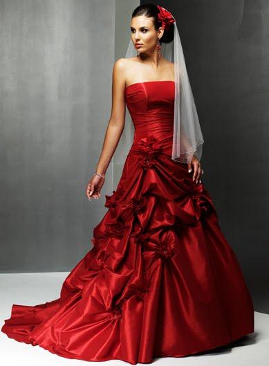 Centrum Slubne Dekoracje ślubne Czerwone Suknie ślubne