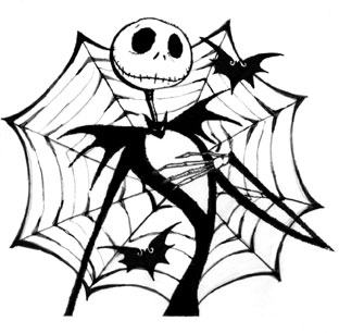 Gothic Designs tattoo design spot: funny and gothic tattoo - jack skellington