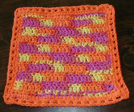CROCHET COTTON DISHCLOTH | Crochet For Beginners