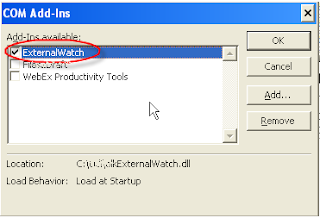Outlook 2003 Com Add-ins Enable/Disable