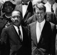 Martin Luther King y Robert Kennedy