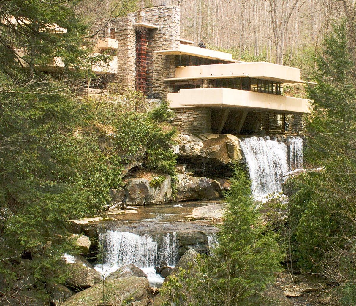 Madeleine madelaine casa da cascata for Casa sulla cascata frank lloyd wright
