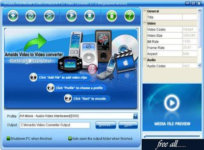 Amadis Video Converter v3.7.3 Full Version Free Download