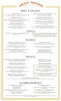 petit rouge menu