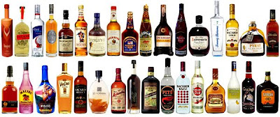 a selection of rum bottles