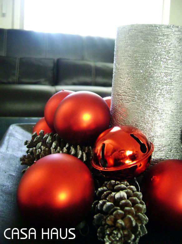 F cil centro de mesa navide o casa haus decoraci n - Como hacer un centro de mesa navideno ...