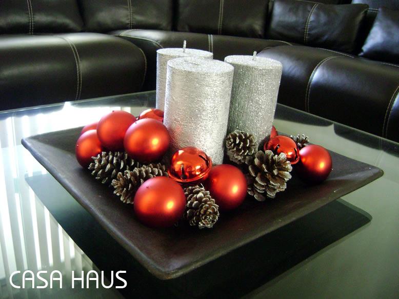 F cil centro de mesa navide o casa haus decoraci n - Centros de mesas navidenos ...