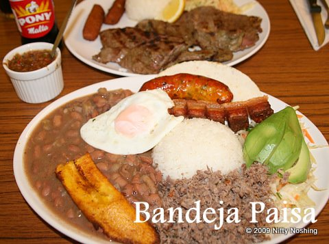 The bandeja paisa (£8.50) I