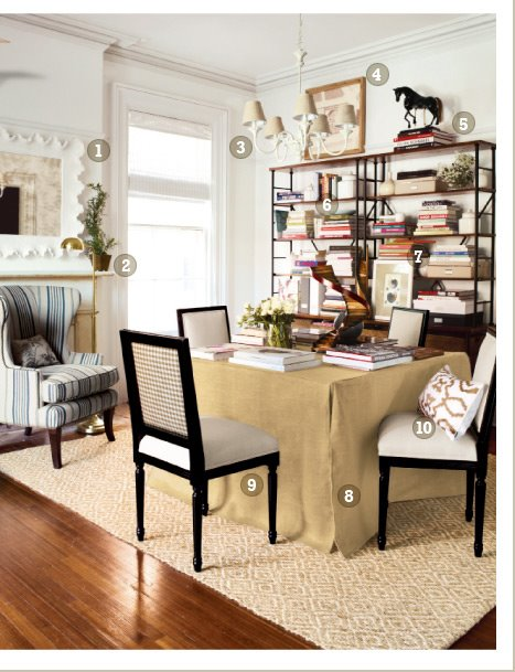 My notting hill a trend the magazine catalog merge for Dual purpose dining room ideas