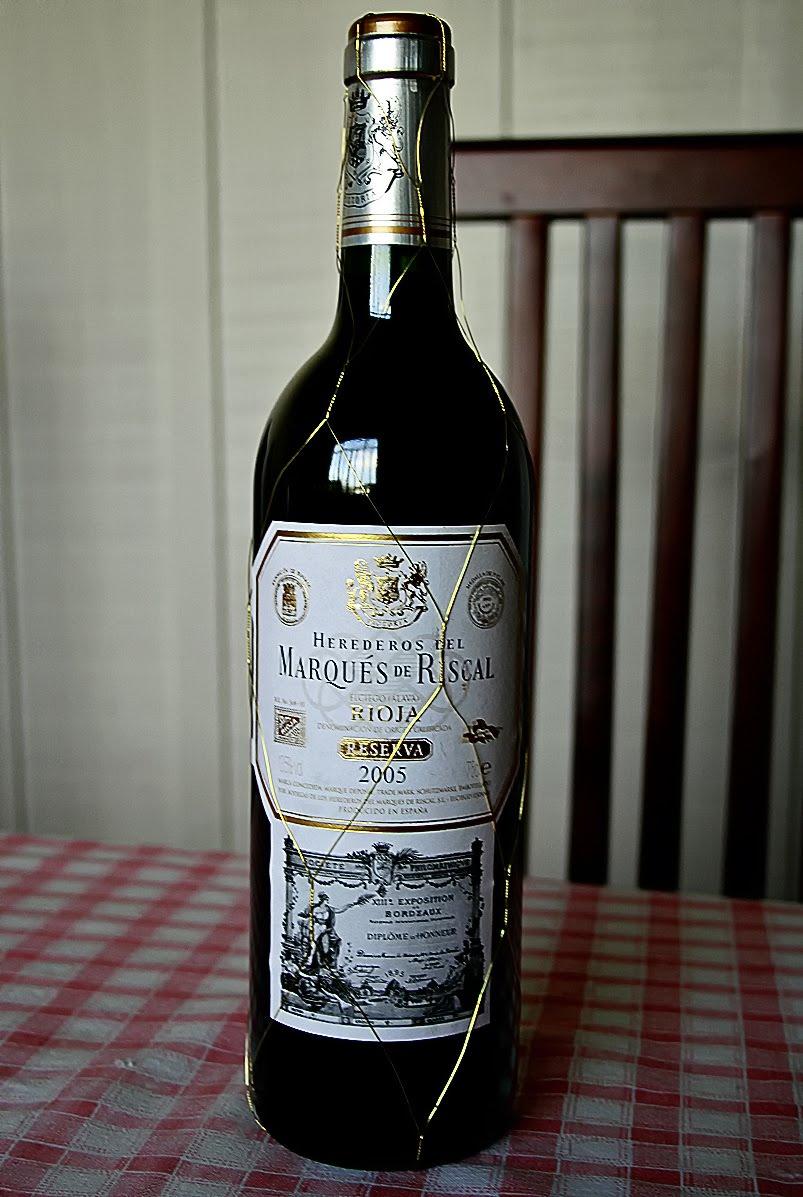 Bit cora hedonista marqu s de riscal reserva 2005 for Marques de riscal rioja