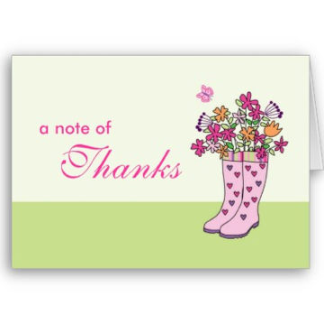 rain thank you cards