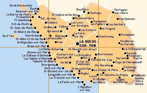 Les principales villes vendéennes