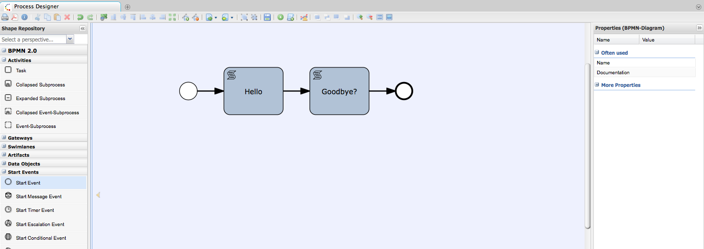 Drools jbpm bpmn2 authoring in drools guvnor bpmn2 being edited in oryx designer ccuart Choice Image