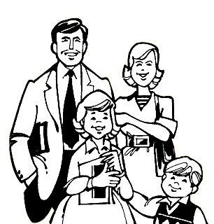 Profesor miguel b dibujo para colorear de la familia for Concepto de la familia para ninos