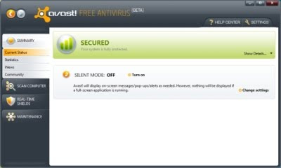 59876 Download Avast! Antivirus 5.0 Beta