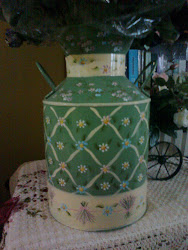Folkart Milk Can