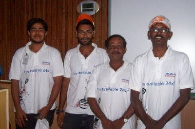 Anand and his team in India Vision 2020 Cycle Rally