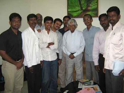 Dr Abdul Kalam with Action 2020 Team at Chennai