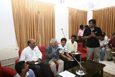 L to R: Natarajan (sitting on floor), Prime Point Srinivasan, Dr Abul Kalam, Kartheeban, Kalam Nagappan, Shivanarayanan (standing)