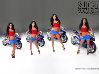 Hot Bike Girls Wallpaper