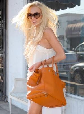 lindsay lohan hair blonde