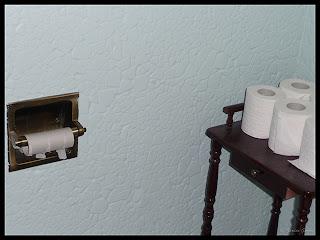 empty toilet paper roller