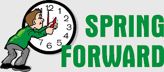 spring ahead for daylight savings time