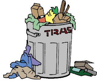 colourized trash can clip art