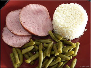 glazed rolled ham dinner