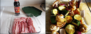 marinating meat and vegetables