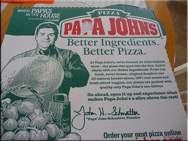 Mom's Cafe Home Cooking: Papa John's Pizza in Lakeland ... Papa Johns Pizza Box Opened