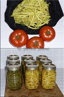 home canned green and wax beans