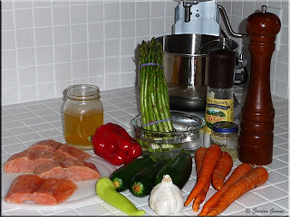 salmon and vegetable packet ingredients
