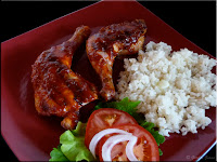 Texas style barbecued chicken